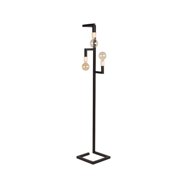 LABEL51 Vloerlamp Loco - Zwart - Metaal