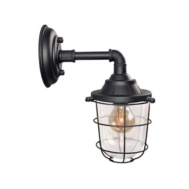 LABEL51 Wandlamp Seal - Zwart - Metaal - MT-2185