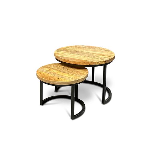 Salontafel set 2-delig - Mangohout - WGXL Collection