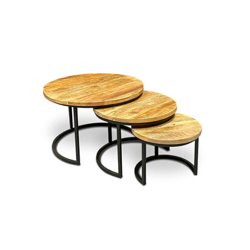 Mangohouten salontafels | Groot aanbod mango meubelen | Wiegers XL