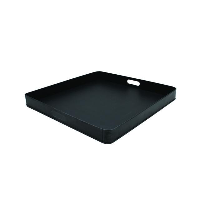 LABEL51 Dienblad 75x75x6 cm | XL - Zwart - Metaal