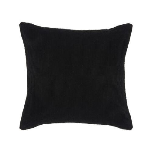 LABEL51 Sierkussen Rib - Zwart - Katoen