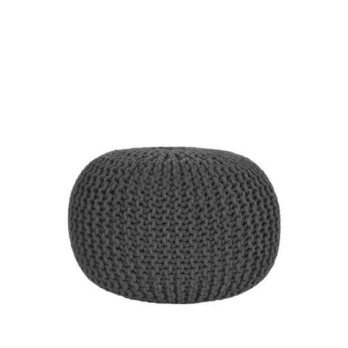 LABEL51 Poof Tricoté - Anthracite - Coton - M
