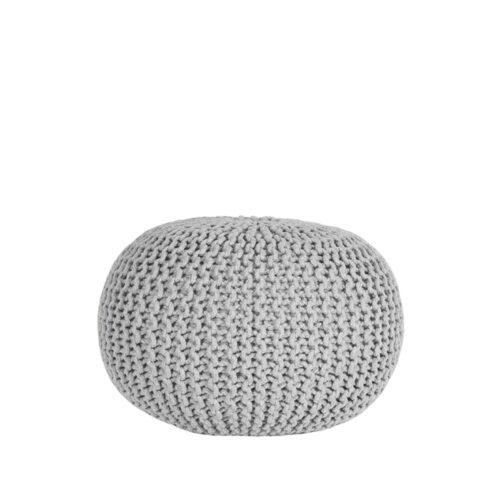 LABEL51 Poof Tricoté - Gris clair - Coton - M