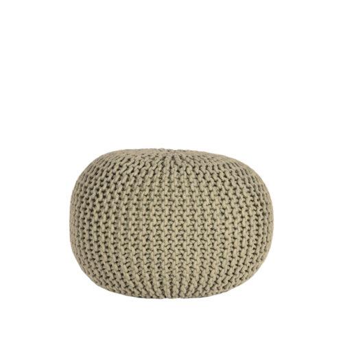 LABEL51 Poof Tricoté - Olive - Coton - M
