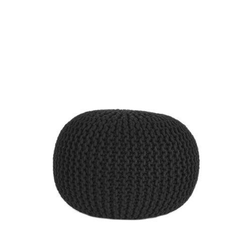 LABEL51 Poof Tricoté - Noir - Coton - M