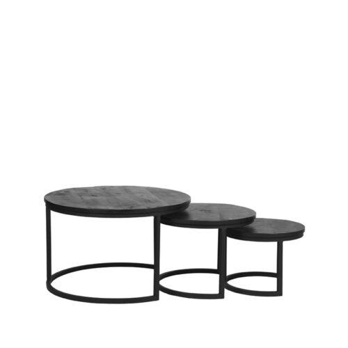 LABEL51 Salontafel Triplet - Black - Mangohout