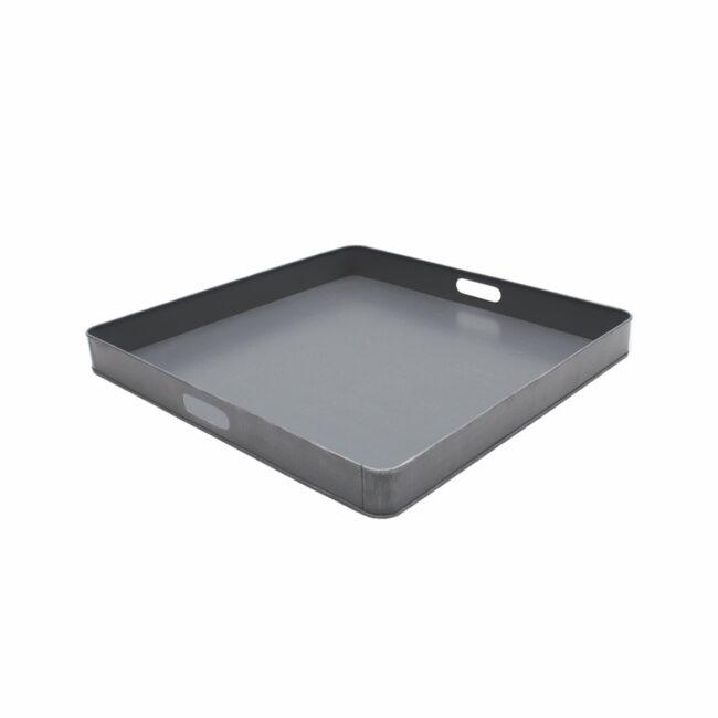 LABEL51 Dienblad 75x75x6 cm | XL - Antiek grijs - Metaal