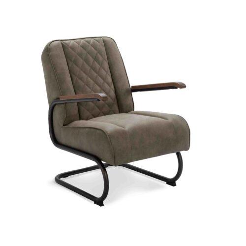 fauteuil benny olijfgroen cowboy
