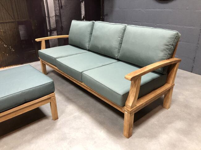 loungeset teakhout bank