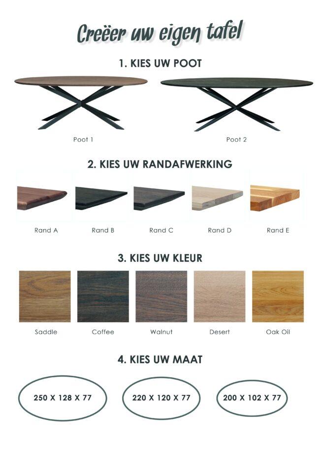 Eetkamertafel Home Eikenhout - WiegersXL