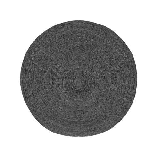 LABEL51 Vloerkleed Jute 150x150 cm I XL - Antraciet - Jute
