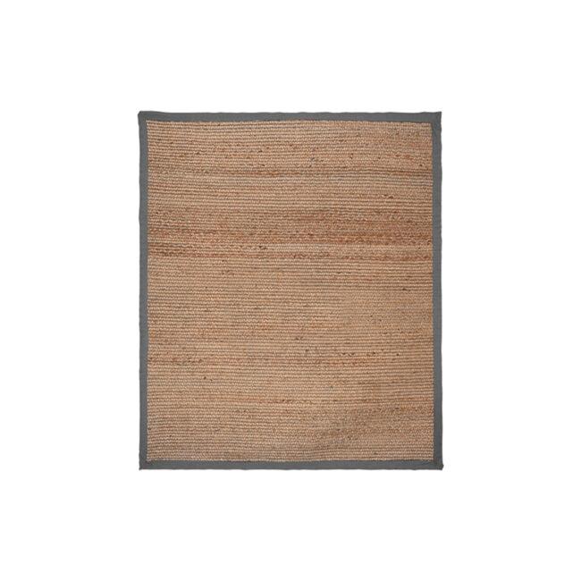 LABEL51 Vloerkleed Jute - Grijs - Jute - 140x160 Cm