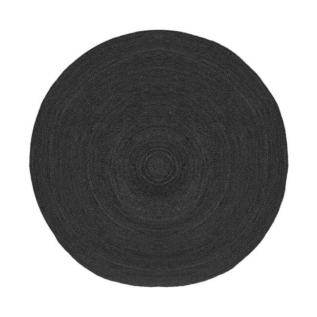 LABEL51 Vloerkleed Jute - Zwart - Jute - 180