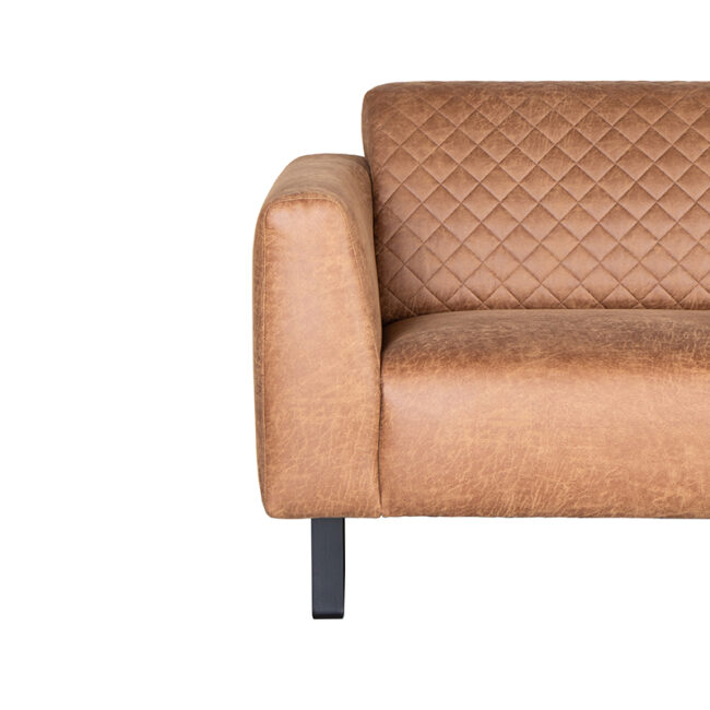 LABEL51 Bank Nola - Cognac - Microfiber - 3-Zits - ND-62.238