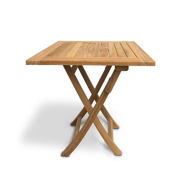 klaptafel teakhout vierkant