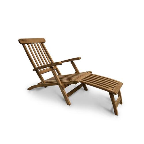 sunbed teak wood classic