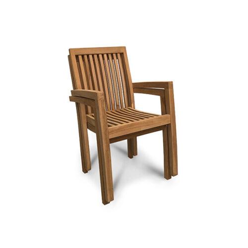 Garden chair Teakwood Stackable Arrie - Set 4x