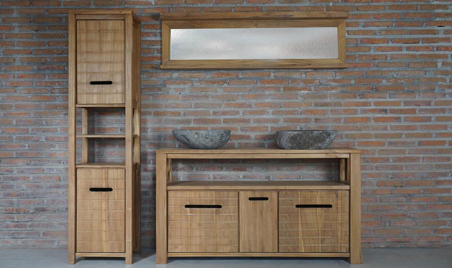 Teak bathroom furniture