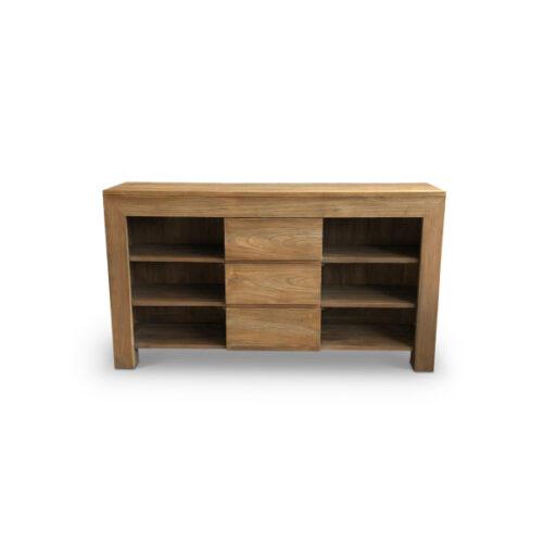 washbasin desk teak wood