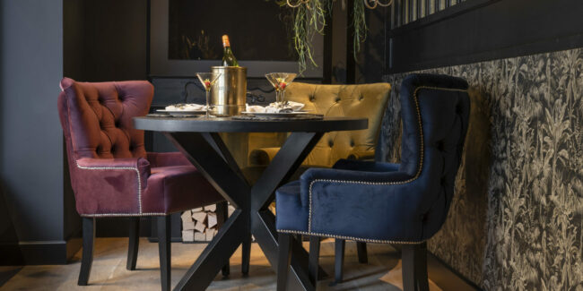 Eetkamerstoel Amy - 200 meubelstoffen - UrbanSofa - Wiegers XL in Asten