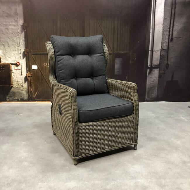 Verstelbare fauteuil Bretagne WGXL Collection - grijs