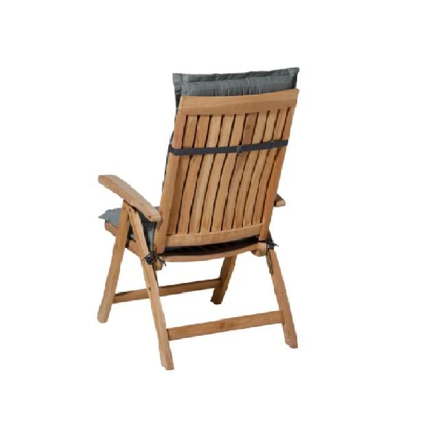 Tuinkussen Basic Grijs incl stoel achterkant