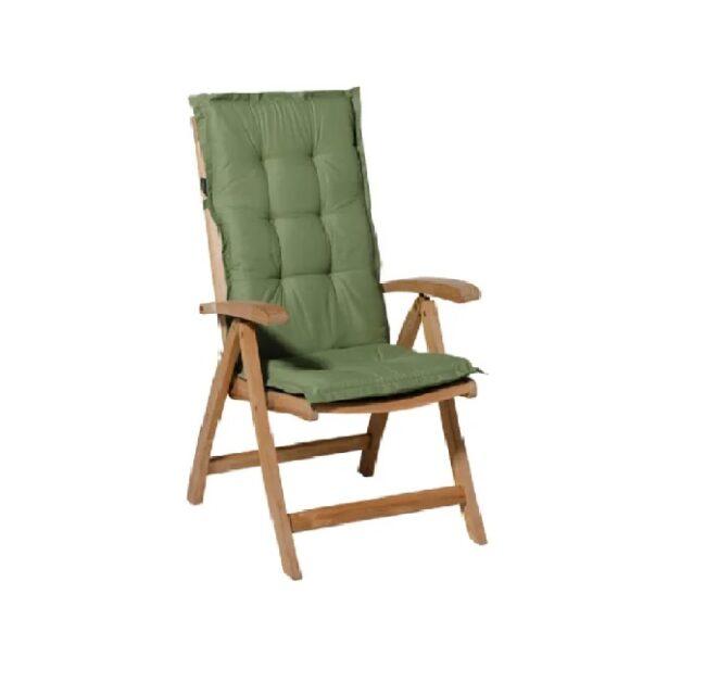 Tuinkussen Basic Green - Hoge rug incl stoel