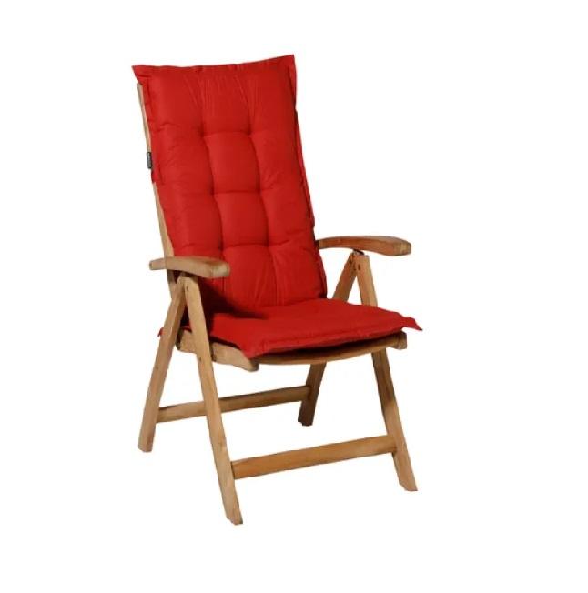 Tuinkussen Basic Rood – Hoge rug incl stoel
