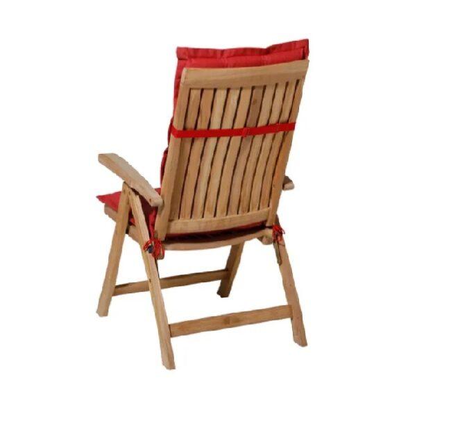 Tuinstoel Panama Brick Red - Hoge rug incl stoel achterkant