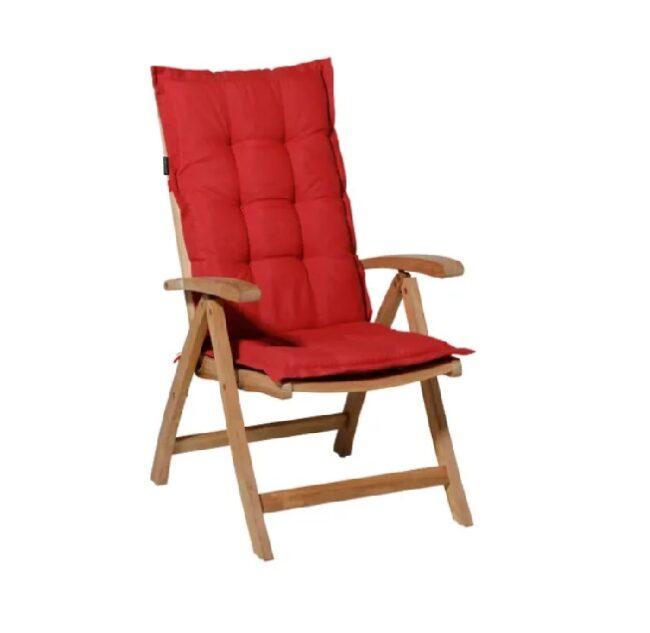 Tuinstoel Panama Brick Red - Hoge rug incl stoel