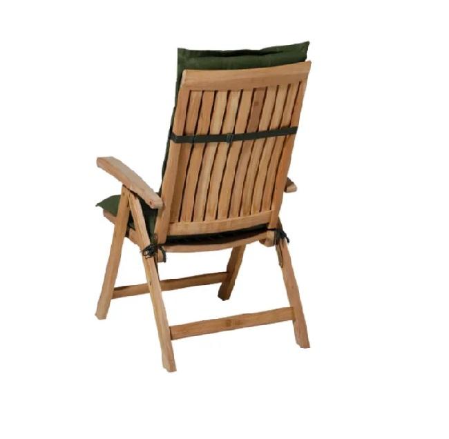 Tuinkussen Panama Green - Hoge Rug incl stoel achterkant