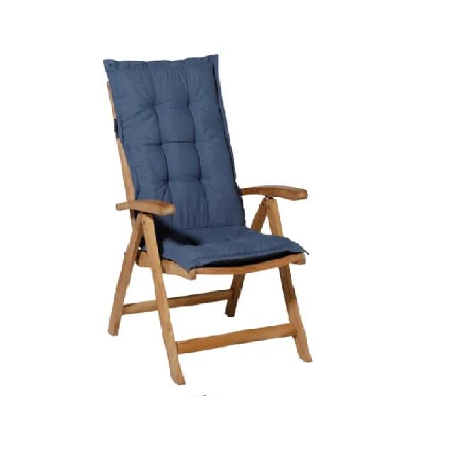 Tuinkussen Panama Safier Blue - Hoge rug incl stoel