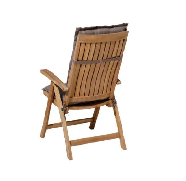 Tuinkussen Panama Taupe incl stoel achterkant