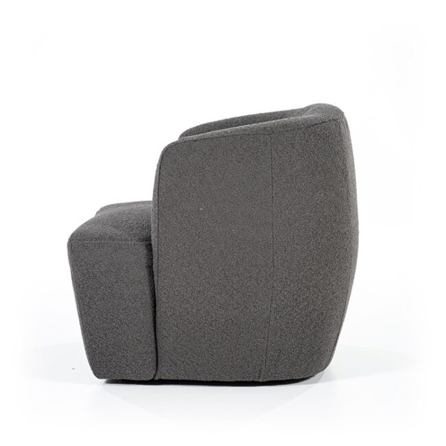 Fauteuil Charlotte - Polyester - Antraciet - Eleonora