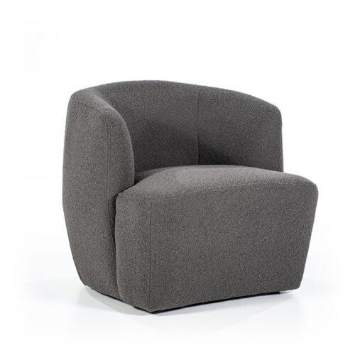 eleonora fauteuil charlotte antraciet voorkant