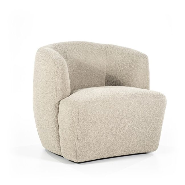 Charlotte fauteuil taupe
