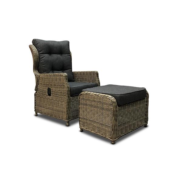 verstelbare stoel bretagne met voetenbank