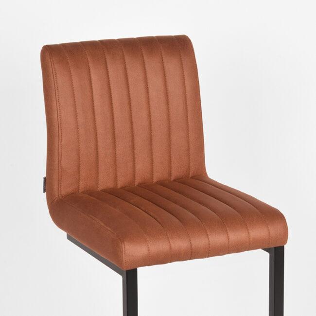 LABEL51 Barkruk Milo - Cognac - Microfiber - UK-30.379