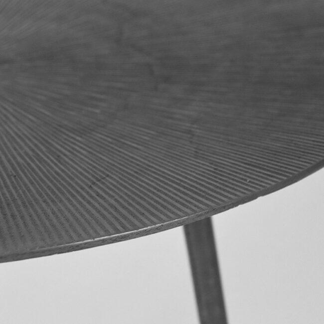 LABEL51 Bijzettafel Nobby - Antiek ash - Metaal - 40 cm - IV-52.019