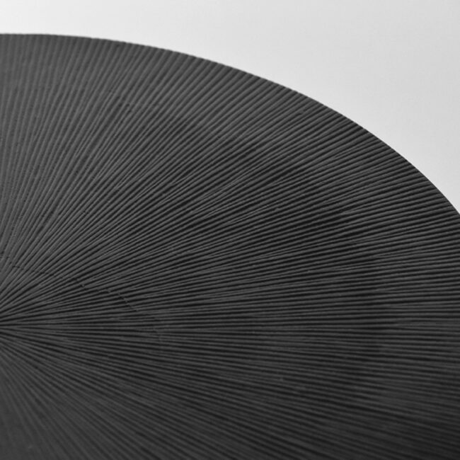 LABEL51 Bijzettafel Nobby - Zwart - Metaal - 40 cm - IV-52.015
