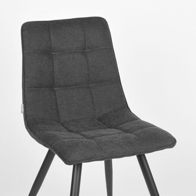 LABEL51 Eetkamerstoel Jelt - Antraciet - Weave - UK-30.316