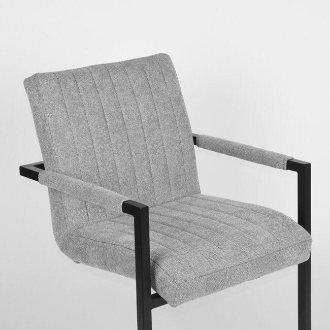 LABEL51 Eetkamerstoel Milo - Zinc - Weave - UK-30.329