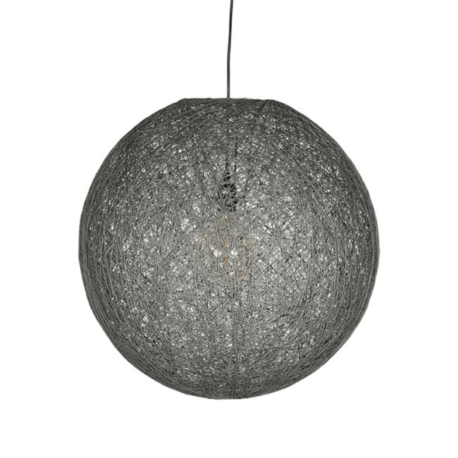 LABEL51 Hanglamp Twist - Grijs - Vlas - 55 cm - QP-4042