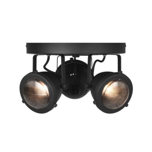 LABEL51 Spot Moto led - Zwart - Metaal - 3 Lichts