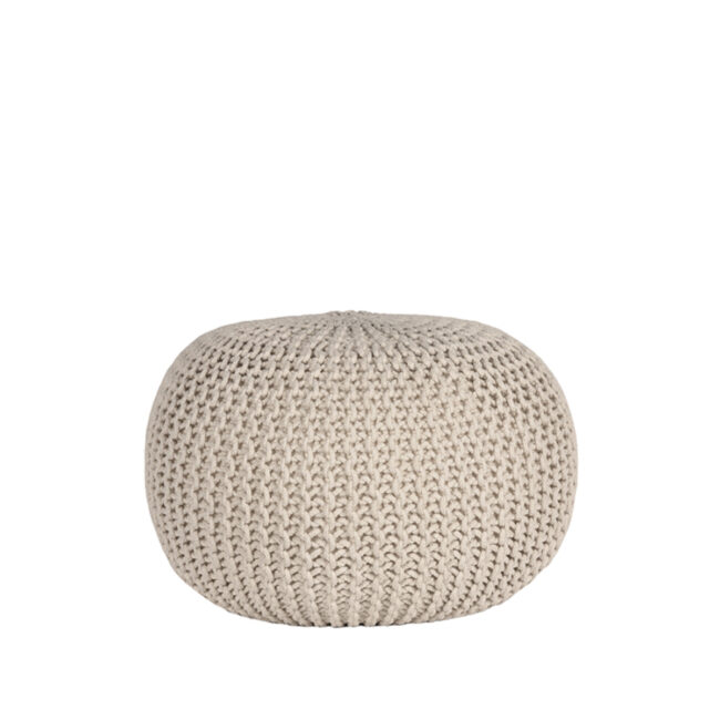 LABEL51 Poef Knitted - Naturel - Katoen - M - SH-24.046