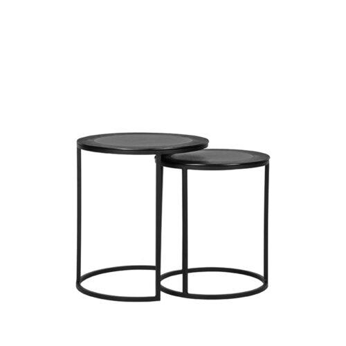 LABEL51 Salontafel Set Pair - Black - Metal - 40 cm