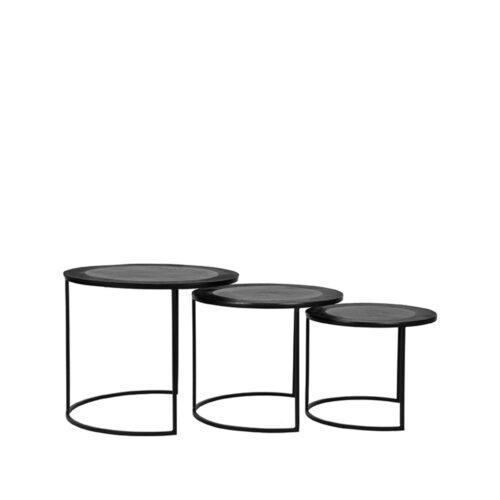 LABEL51 Salontafel Set Tres - Zwart - Metaal