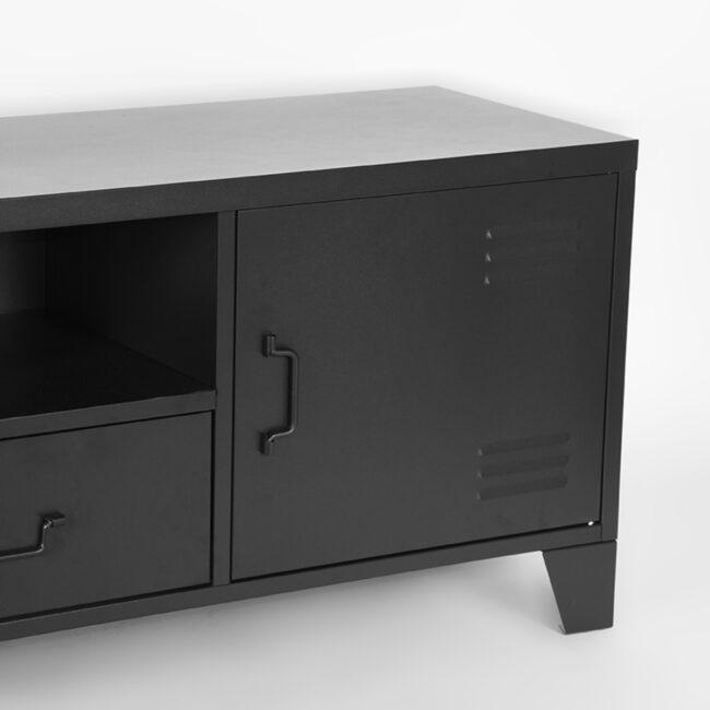LABEL51 Tv-meubel Fence - Zwart - Metaal - SL-51.010