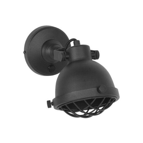 LABEL51 Wandlamp Cas - Zwart - Metaal - M